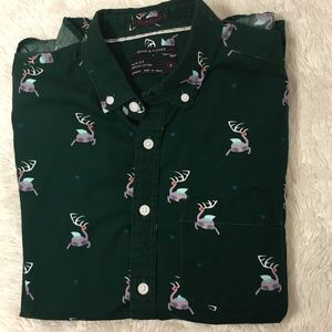 Denim & Flower 100% Cotton Slim Fit Button Down S